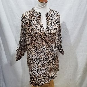 Blow-Up Leopard Pullover Tunic